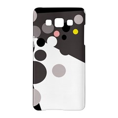 Gray, Yellow And Pink Dots Samsung Galaxy A5 Hardshell Case  by Valentinaart