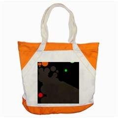 Colorful Dots Accent Tote Bag by Valentinaart