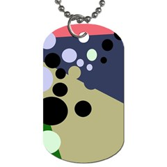 Elegant Dots Dog Tag (one Side) by Valentinaart
