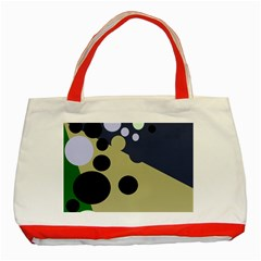 Elegant Dots Classic Tote Bag (red) by Valentinaart