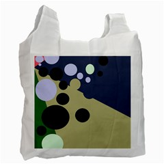Elegant Dots Recycle Bag (two Side)  by Valentinaart