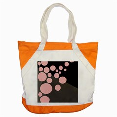 Pink Dots Accent Tote Bag by Valentinaart