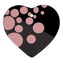 Pink Dots Heart Ornament (2 Sides) by Valentinaart