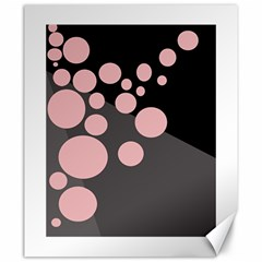 Pink Dots Canvas 20  X 24   by Valentinaart