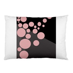 Pink Dots Pillow Case by Valentinaart