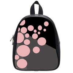 Pink Dots School Bags (small)  by Valentinaart