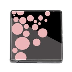 Pink Dots Memory Card Reader (square) by Valentinaart