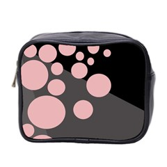 Pink Dots Mini Toiletries Bag 2-side by Valentinaart