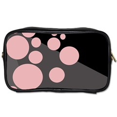 Pink Dots Toiletries Bags by Valentinaart