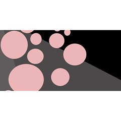 Pink Dots You Are Invited 3d Greeting Card (8x4)