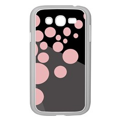 Pink Dots Samsung Galaxy Grand Duos I9082 Case (white) by Valentinaart