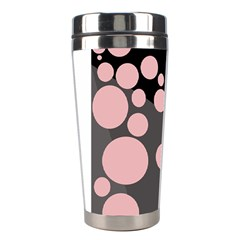 Pink Dots Stainless Steel Travel Tumblers by Valentinaart