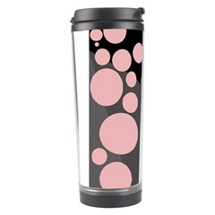 Pink Dots Travel Tumbler by Valentinaart