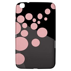 Pink Dots Samsung Galaxy Tab 3 (8 ) T3100 Hardshell Case  by Valentinaart
