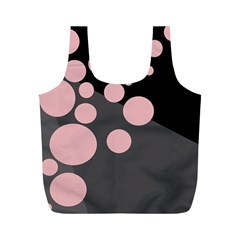 Pink Dots Full Print Recycle Bags (m)  by Valentinaart