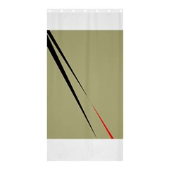 Elegant Lines Shower Curtain 36  X 72  (stall)  by Valentinaart