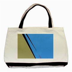 Elegant Lines Basic Tote Bag by Valentinaart