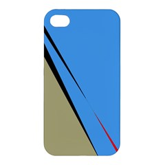 Elegant Lines Apple Iphone 4/4s Premium Hardshell Case by Valentinaart