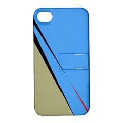 Elegant Lines Apple Iphone 4/4s Hardshell Case With Stand by Valentinaart