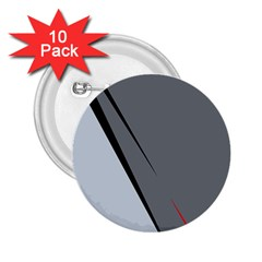 Elegant Gray 2 25  Buttons (10 Pack)  by Valentinaart
