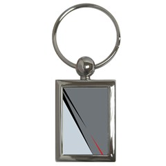 Elegant Gray Key Chains (rectangle)  by Valentinaart