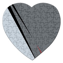 Elegant Gray Jigsaw Puzzle (heart) by Valentinaart