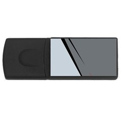 Elegant Gray Usb Flash Drive Rectangular (4 Gb)  by Valentinaart