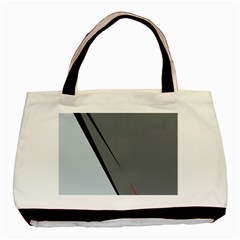 Elegant Gray Basic Tote Bag (two Sides) by Valentinaart