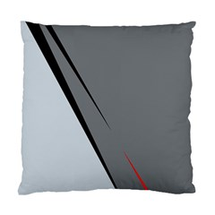 Elegant Gray Standard Cushion Case (one Side) by Valentinaart