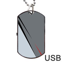 Elegant Gray Dog Tag Usb Flash (two Sides)  by Valentinaart