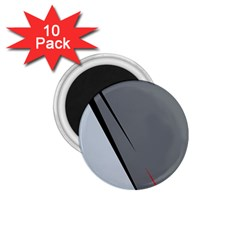 Elegant Gray 1 75  Magnets (10 Pack)  by Valentinaart