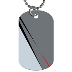 Elegant Gray Dog Tag (one Side) by Valentinaart