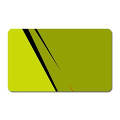 Yellow Elegant Design Magnet (rectangular) by Valentinaart