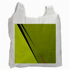 Yellow Elegant Design Recycle Bag (one Side)