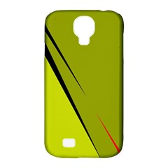 Yellow Elegant Design Samsung Galaxy S4 Classic Hardshell Case (pc+silicone) by Valentinaart