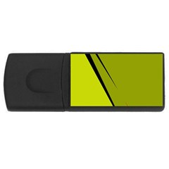Yellow Elegant Design Usb Flash Drive Rectangular (4 Gb)  by Valentinaart