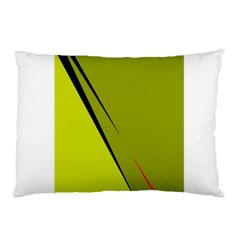 Yellow Elegant Design Pillow Case (two Sides) by Valentinaart