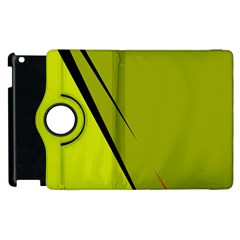 Yellow Elegant Design Apple Ipad 3/4 Flip 360 Case by Valentinaart