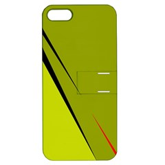 Yellow Elegant Design Apple Iphone 5 Hardshell Case With Stand by Valentinaart