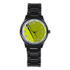 Yellow Elegant Design Stainless Steel Round Watch by Valentinaart
