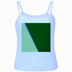 Green Design Baby Blue Spaghetti Tank