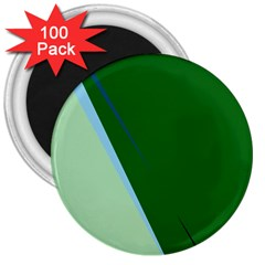 Green Design 3  Magnets (100 Pack) by Valentinaart