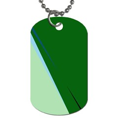 Green Design Dog Tag (one Side) by Valentinaart