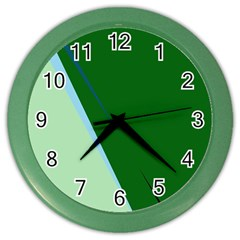 Green Design Color Wall Clocks by Valentinaart