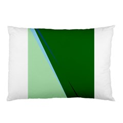 Green Design Pillow Case by Valentinaart