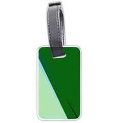 Green Design Luggage Tags (two Sides) by Valentinaart