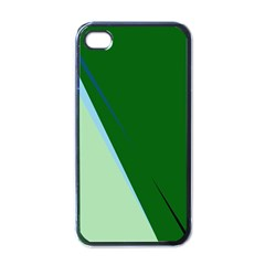 Green Design Apple Iphone 4 Case (black) by Valentinaart