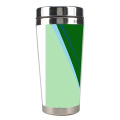 Green Design Stainless Steel Travel Tumblers by Valentinaart