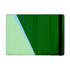 Green Design Ipad Mini 2 Flip Cases by Valentinaart