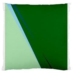 Green Design Standard Flano Cushion Case (one Side) by Valentinaart